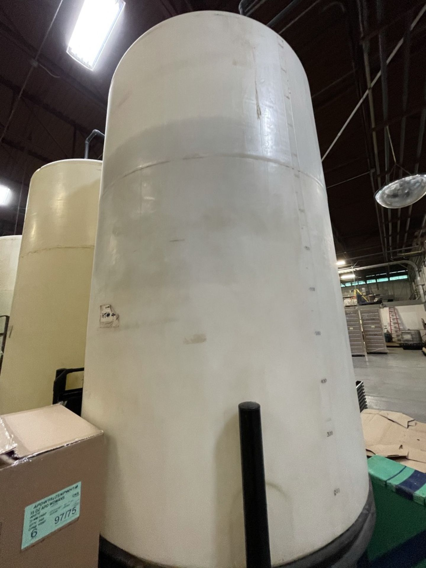 ACE ROTO MOLD APPROX. 1,400 GALLON CONE-BOTTOM POLY STORAGE TANK, STEEL FRAME - Image 6 of 6