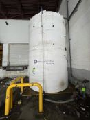 SII DESIGN PLASTIC SYSTEMS 8,500 GALLON POLY STORAGE TANK, APPROX. 1 YEAR OLD