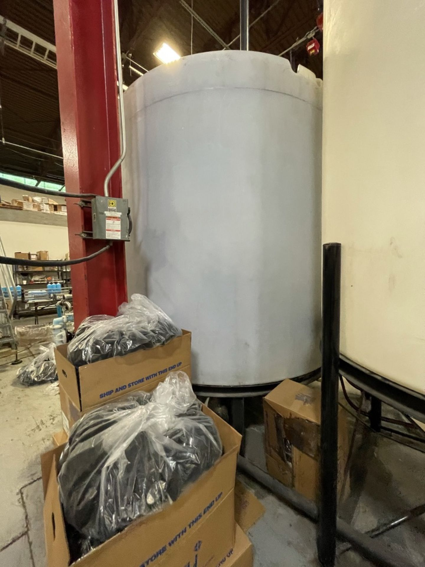 ACE ROTO-MOLD APPROX. 2,200 GALLON TANK WITH STEEL FRAME - Image 4 of 4