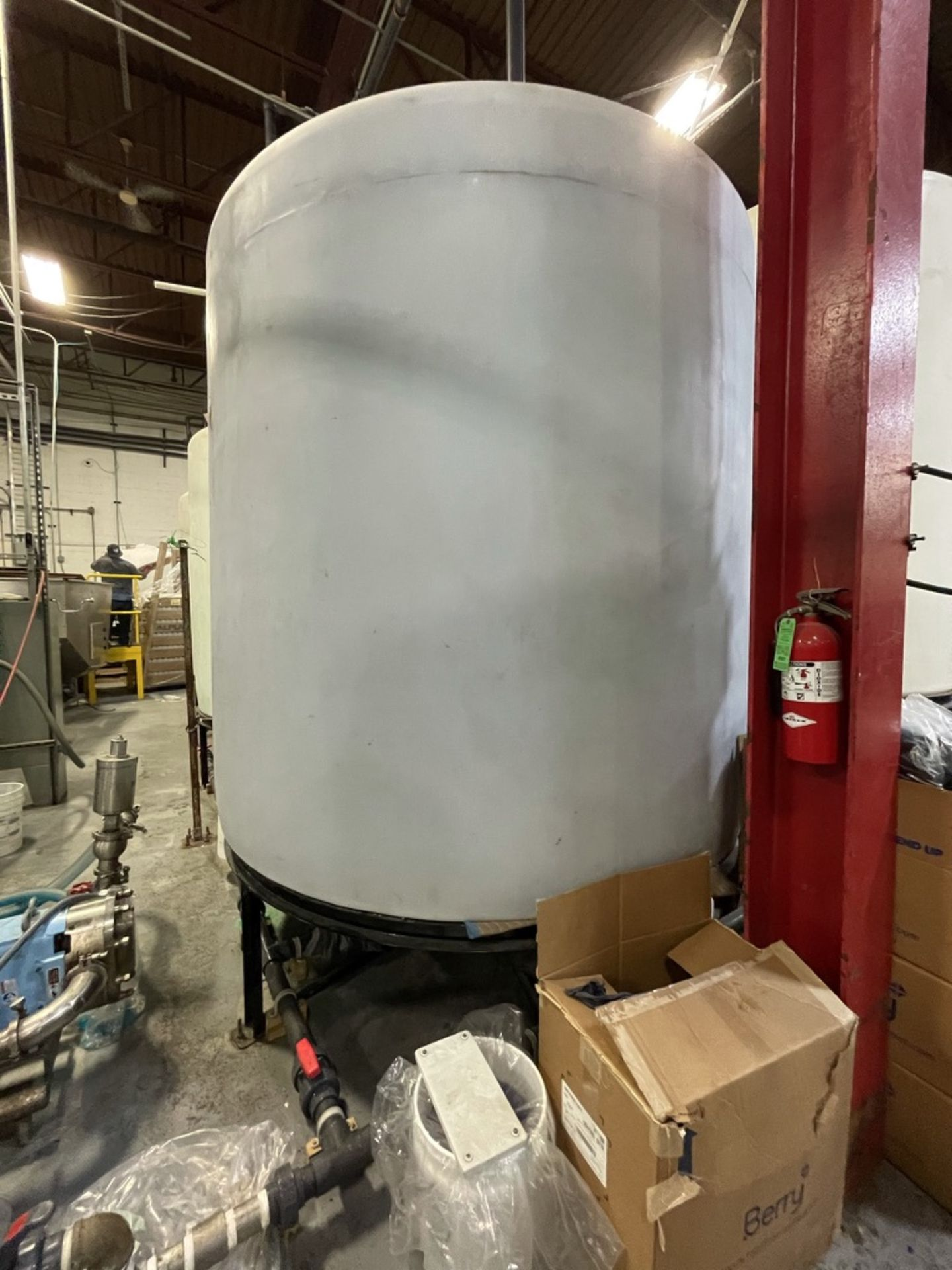 ACE ROTO-MOLD APPROX. 2,200 GALLON TANK WITH STEEL FRAME - Image 3 of 4