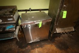 """S/S Reach-In Cabinet, Overall Dims.: Aprox. 28-1/2"""" L x 22-1/2"""" W x 33"""" H (Located in Adamstown, PA)"""
