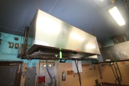 """S/S Hood System, Overall Dims.: Aprox. 8' L x 48"""" W x 29-1/2"""" H, Free Suspended Unit--See"""