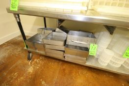 """S/S Cheese Molds, Main Cavity Dims.: Aprox. 14"""" L x 10-1/2"""" W x 5"""" Deep (NOTE: Previously Worked"""