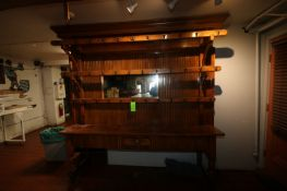 """Beautiful Rack & Mirror Wooden Display, Overall Dims.: Aprox. 98"""" L x 20"""" W x 97"""" H (Located in"""