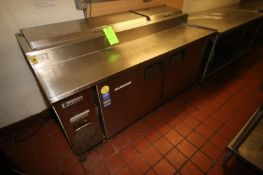 """Everest S/S Dish Serving Counter, with 2-S/S Lid Compartments, Overall Dims.: Aprox. 71-1/2"""" L x 33"""""""