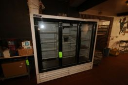 "Powers 3-Door Refrigerator, Overall Dims.: Aprox. 80"" L x 31"" W x 74-1/2"" H (Located in Adamstown,"