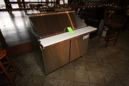 "Avantco S/S Refrigerated Counter, with Cutting Board Style Area, Overall Dims.: Aprox. 48"" L x 35"" W"