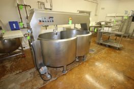 CVR 290 Gal. Double OO Cheesevat, S/N 0708019706, Includes Pump, Overall Dims.: Aprox. 8' L x 53""