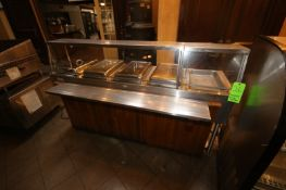 "CSP S/S Serving Counter, with 5-Warming Compartments, Overall Dims. of Counter: Aprox. 79"" L x 35"" W"