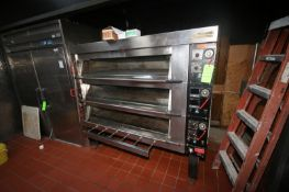 S/S Triple Decker Steam Injection Oven, with 3-Compartments, 240 Volts, Overall Dims.: Aprox. 78""