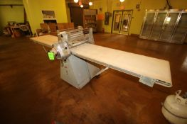 """G.A. Seewer Rondo Sheeter, M/N 5/4-604, S/N 66, with Aprox. 24"""" W Conveyor Belt, Mounted on Portable"""