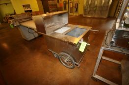 All Star S/S Vending Cart, M/N 100, S/N 93-059, with Propane Heating Compartment (Located in