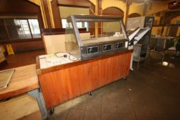 "BKI S/S Warming Center, with Portable Counter, Counter Dims.: Aprox. 86"" L x 33"" W x 37"" H ("