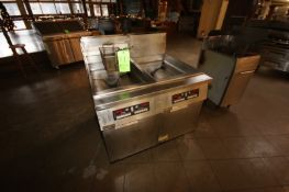 Frymaster Dual Compartment S/S Fryer, Mounted on Portable Frame (Located in Adamstown, PA) (Rigging,