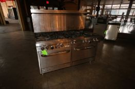 Southbend S/S Stove Top & Oven Unit, with 10-Burner Stove Top & Dual Bottom Compartment Ovens,