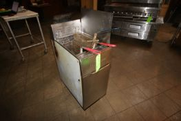 Frymaster Dual Basket S/S Fryer (NOTE: Needs New Pilot Light & Other Component) (Located in