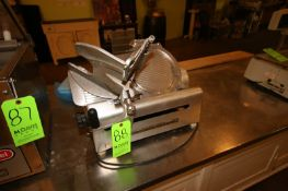 Globe Cavity S/S Feed Slicer, with S/S Blade (Located in Adamstown, PA) (Rigging, Loading & Site