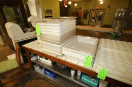 Assorted Drainage Trays with Lids, Assorted Sizes (Located in Adamstown, PA) (Rigging, Loading &