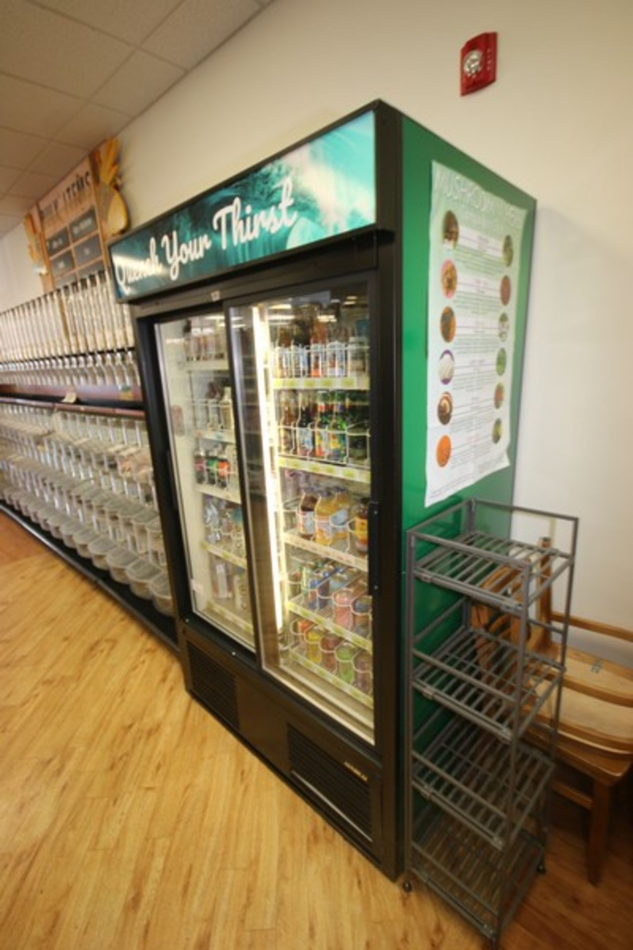 Habco Sliding Glass Refrigerator, M/N ESM42, S/N 420249330, 115 Volts, 1 Phase, Design Pressure: Low - Image 2 of 4