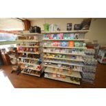 2-Sections of Single Sided Super Market Shevling, with Shelves (NOTE: 6 Total Feet) (Located in