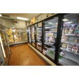 Hussman 4-Door Refrigeration Unit, M/N RLN-4, S/N MY10L391310, 120 Volts, 1 Phase, Overall Dims.:
