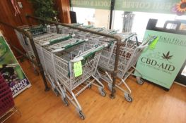 """Shopping Carts, Overall Dims.: Aprox. 36"""" L x 21"""" W x 38"""" H (Located in McMurray, PA) (Rigging,"""