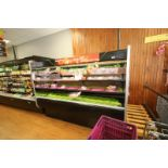 "Open Refrigerated Display Case, with 2-Shelving Units, Overall Dims.: Aprox. 99-1/2"" L x 43"" W x"