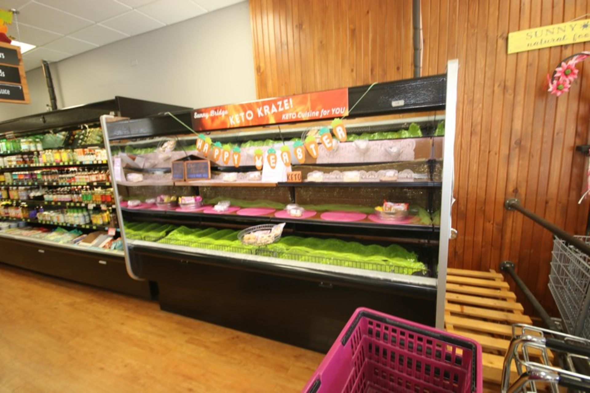 """Open Refrigerated Display Case, with 2-Shelving Units, Overall Dims.: Aprox. 99-1/2"""" L x 43"""" W x"""