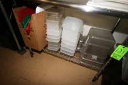 Assorted Plastic Containers & Inserted, with Assorted Lids (Located in McMurray, PA) (Rigging,