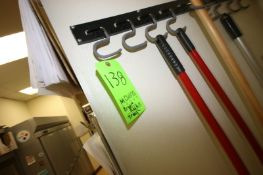 Wall Mounted Janitorial Broom Rack & Wash Trough (Located in McMurray, PA) (Rigging, Loading &
