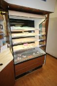 "Open Refrigerated Display Case, with 4-Internal Shelves, Overall Dims.: Aprox.46-1/2"" L x 35"" W x"