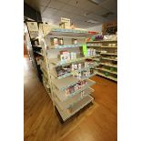 "End Shelf, with 8-Shelf Design, Overall Dims.: Aprox. 36"" L x 18"" W x 72"" H (Located in McMurray,"