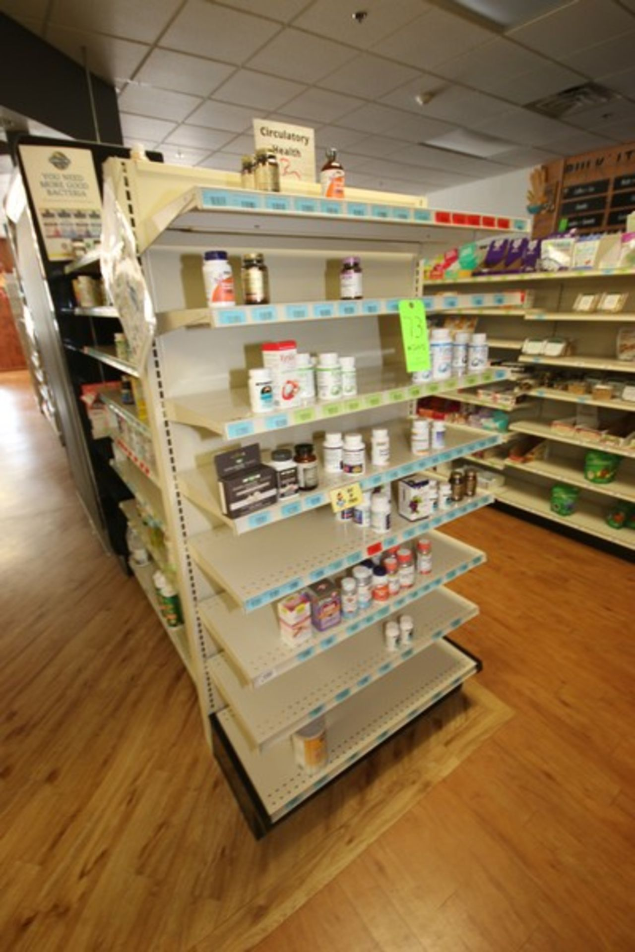 """End Shelf, with 8-Shelf Design, Overall Dims.: Aprox. 36"""" L x 18"""" W x 72"""" H (Located in McMurray,"""