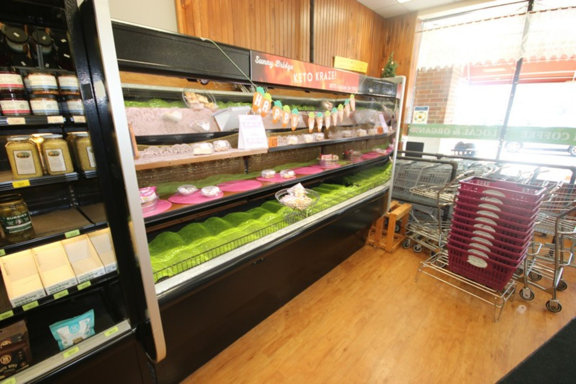 """Open Refrigerated Display Case, with 2-Shelving Units, Overall Dims.: Aprox. 99-1/2"""" L x 43"""" W x - Image 4 of 4"""