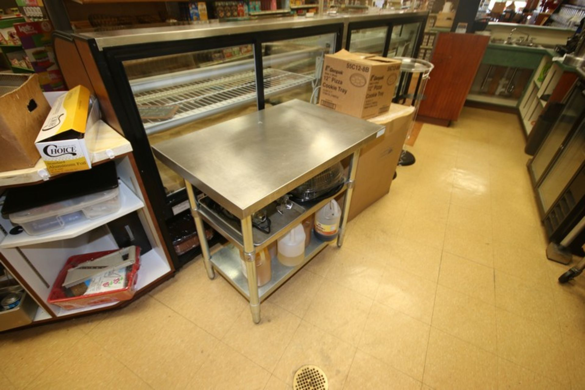 """S/S Table, with (2) S/S Bottom Shelves, Overall Dims.: Aprox. 36"""" L x 24"""" W x 34-1/2"""" H (Locatd in - Image 2 of 2"""
