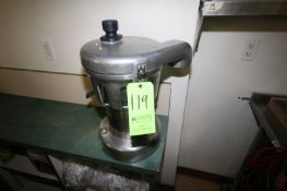 Nutrifaster S/S Commercial Juic Extractor, S/N 4500707004, with S/S Discharge Chute, Overall