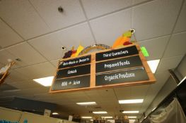 """3-Grocery Store Isle Signs, Overall Dims.: Aprox. 48"""" L x 23-3/4"""" W (Located in McMurray, PA) ("""