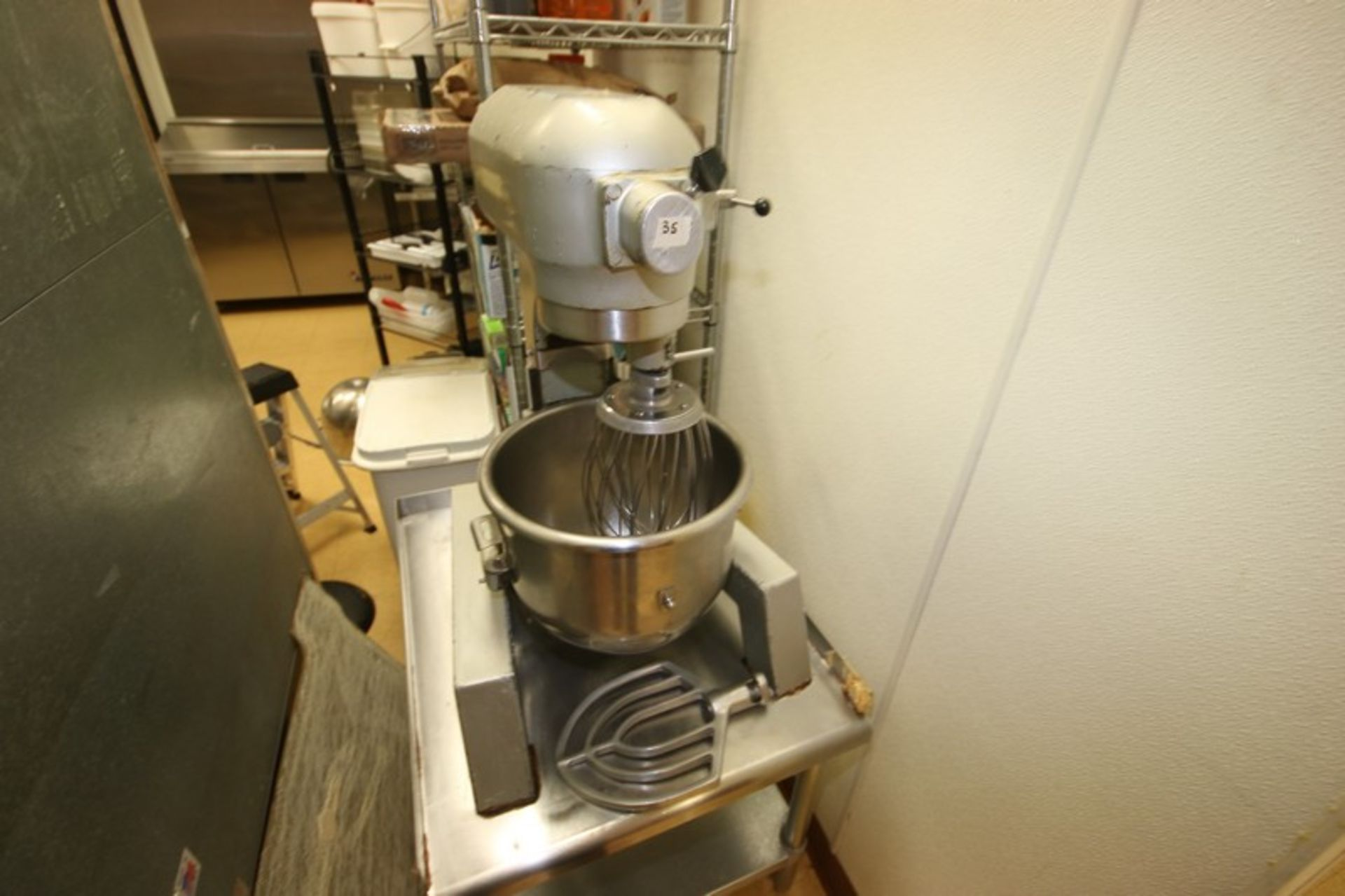 Hobart Mixer, M/N A300F, S/N 11-306-736, 115 Volts, 1 Phase, with S/S Mixing Bowl, S/S Whip & Flat - Image 7 of 7