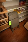 """Folding Table, with (3) Metal Folding Chairs, Table Dims.: Aprox. 49"""" L x 24"""" W x 28"""" H (Located"""
