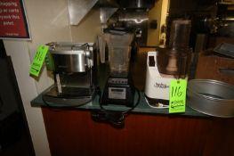 DeLonghi Expresso Machine, Blendtec Commercial Mixer Chef 600 Blender, Moulinex La Machine II Food