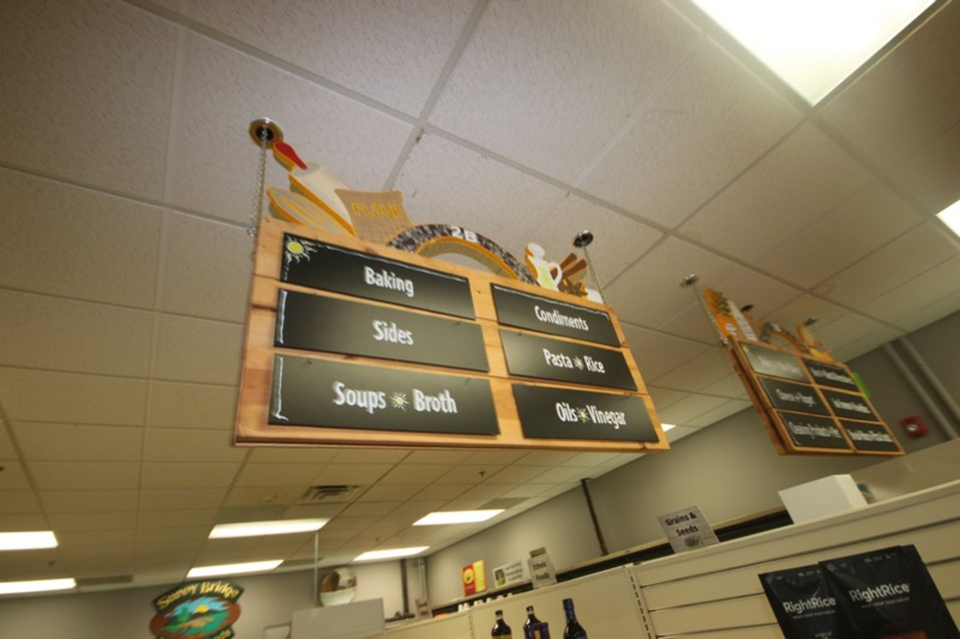 """3-Grocery Store Isle Signs, Overall Dims.: Aprox. 48"""" L x 23-3/4"""" W (Located in McMurray, PA) ( - Image 2 of 3"""