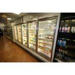 Hussman 5-Door Refrigeration Unit, M/N GEM-5,S/N 02BQ1280-863, 115 Volts, 1 Phase, Overall Dims.: