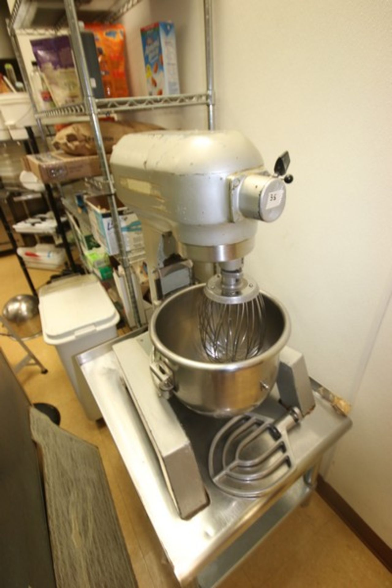 Hobart Mixer, M/N A300F, S/N 11-306-736, 115 Volts, 1 Phase, with S/S Mixing Bowl, S/S Whip & Flat - Image 2 of 7
