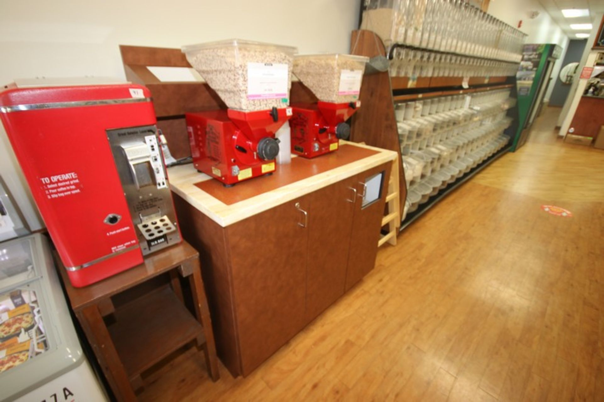 """Utensil & Condiment Counter, with Trask Bin Insert & 2-Bottom Doors, Overall Dims.: Aprox. 49"""" L x - Image 2 of 2"""