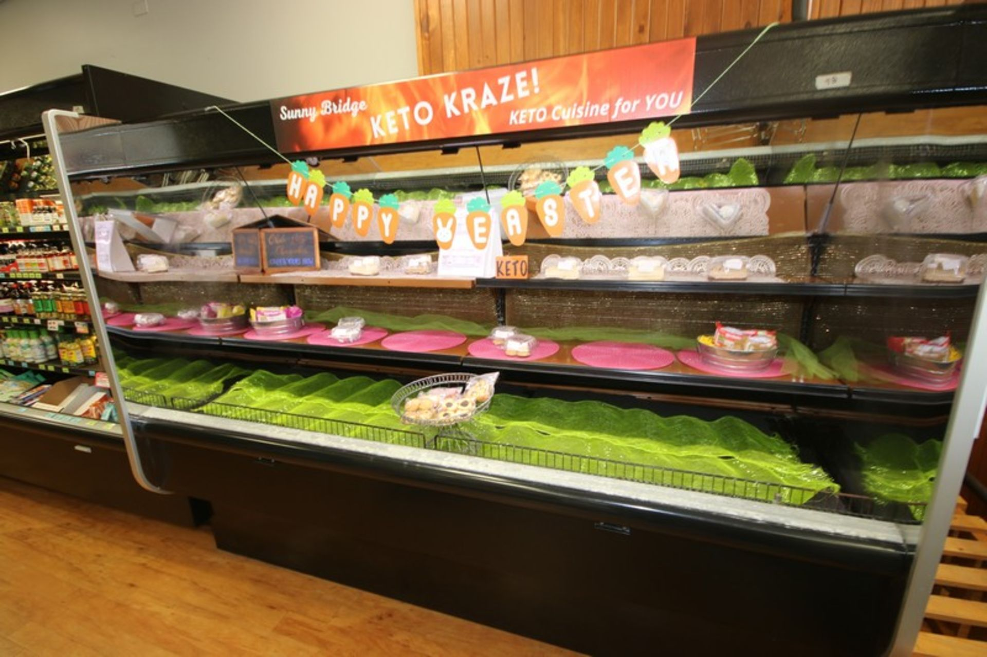 """Open Refrigerated Display Case, with 2-Shelving Units, Overall Dims.: Aprox. 99-1/2"""" L x 43"""" W x - Image 2 of 4"""