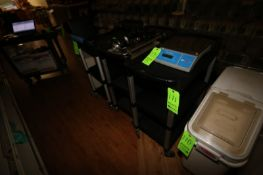 """Plastic Portable Carts, with 3-Shelves, Overall Dims.: Aprox. 31-1/2"""" L x 17"""" W x 39"""" H (Located"""