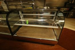 """Federal Glass Display Case, with Internal Shelf, Overall Dims.: Aprox. 50"""" L x 34"""" W x 50-1/2"""" H ("""