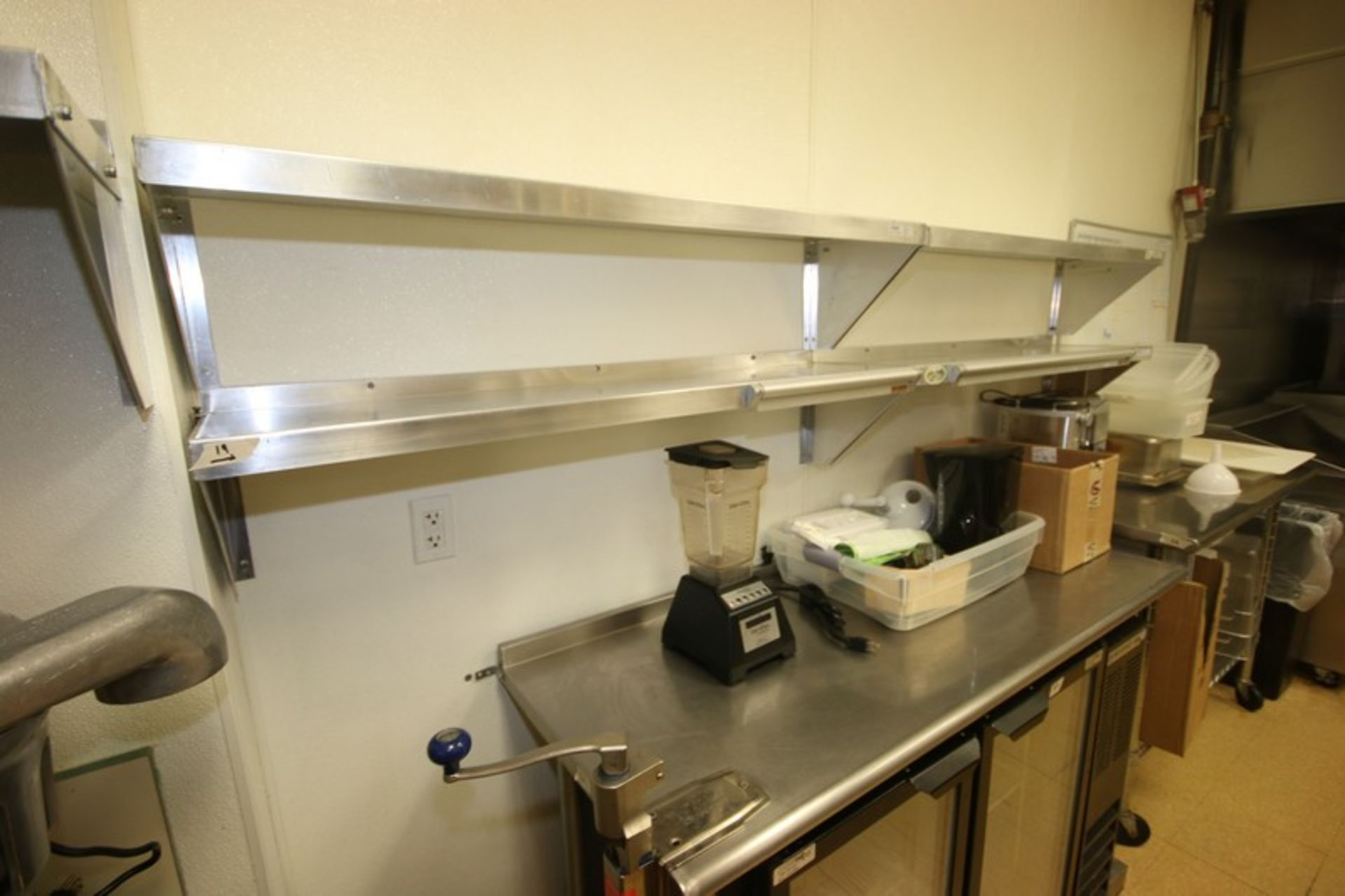 """Win-Holt S/S Shelves, Shelf Dims.: Aprox. 48"""" L x 12"""" W, Wall Mounted (Located in McMurray, PA) ( - Image 2 of 4"""