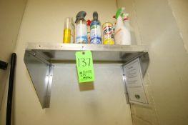 "S/S Shelves, (2) Aprox. 48"" L x 12"" W, & (1) Aprox. 24"" L x 12"" W (Located in McMurray, PA) ("