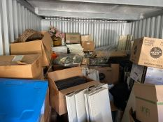 Complete Contents of Storage Container, Includes Grocery Store Shelving, Pans, & Other Misc. Store